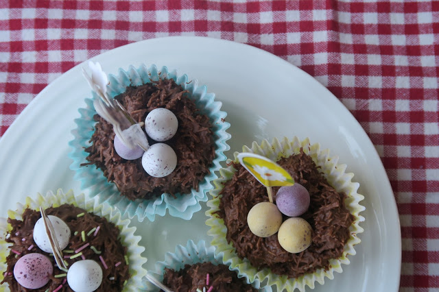 Easy Mini Egg Easter Nests