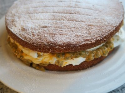 Passion Fruit Filled Sponge Cake
