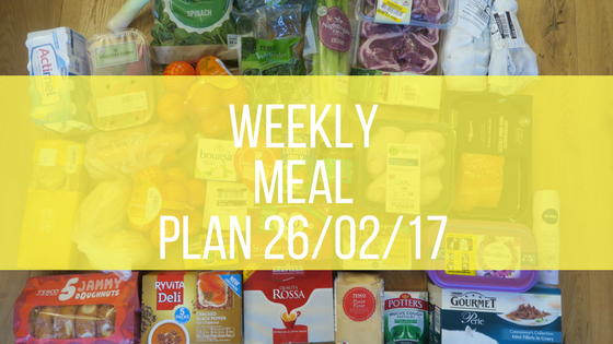 Weekly Meal Plan Feb 26th